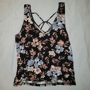 American Eagle Outfitters Tops - AE Soft & Sexy Crepe Floral Tank